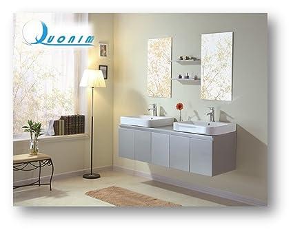 Mobile bagno arredo bagno nuovo 2 lavandini 2 specchio 2