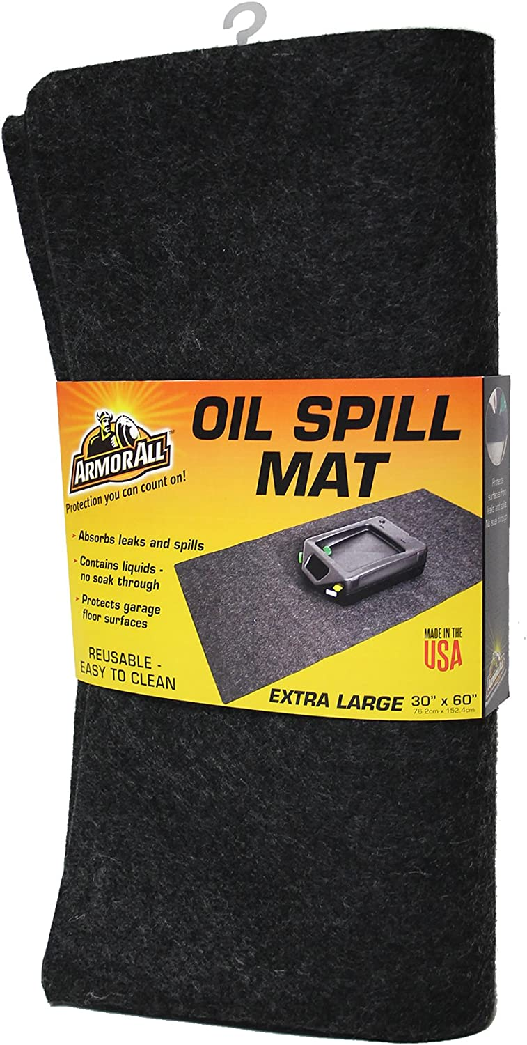 """Drymate Armor All AAOSM3060C Premium Absorbent Mat – Reusable – Oil Pad Contains Liquids, Protects Garage Floor Surface (Extra Large) (30"""" x 60"""")"""
