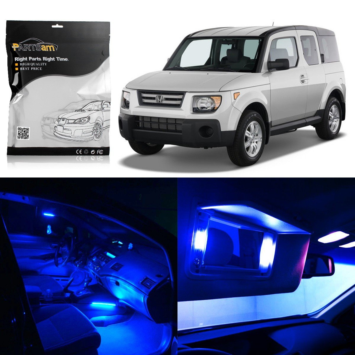 Amazon.com: Partsam 2003-2008 Honda Element Blue Interior LED Light Package  Kit (6 Pieces): Automotive