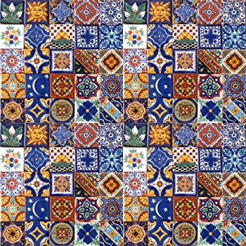 Amazoncom 100 Hand Painted Talavera Mexican Tiles 2x2 Spanish