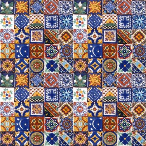 100 Hand Painted Talavera Mexican Tiles 2 x2 Spanish Mediterranean decor