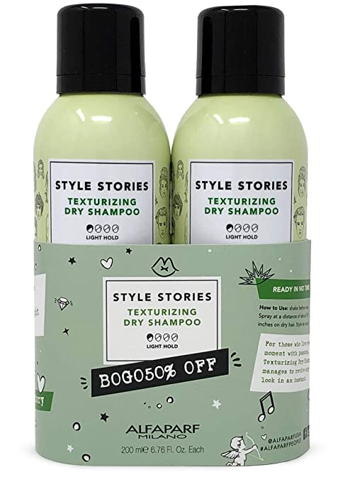Amazon Com Alfaparf Milano Style Stories Texturizing Dry Shampoo Duo Set Quickly Cleans Hair Adds Support Texture And Volume Pleasant Fragrance Professional Salon Quality 2 Count Premium Beauty