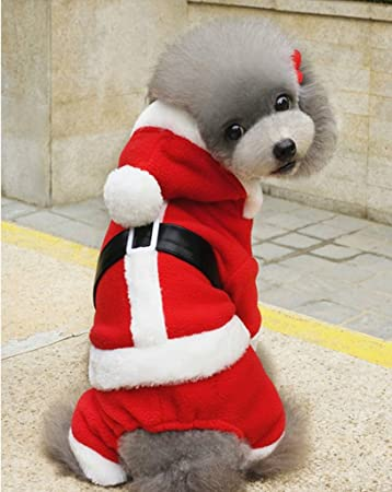 Amazon.com: Enjoying Doggie Navidad Ropa De chamarra ...
