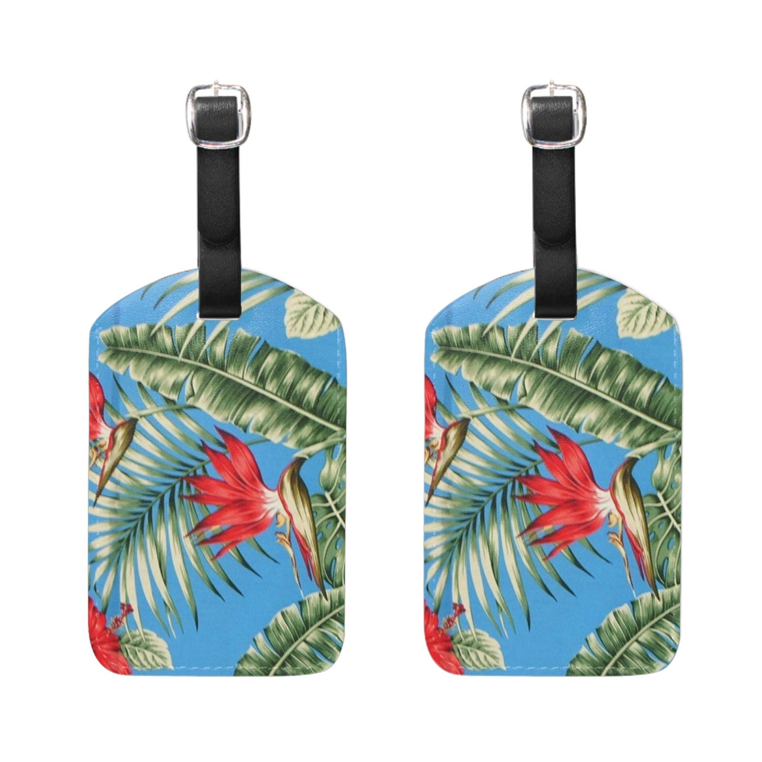 Peacock Feathers Pattern Luggage Tags /& Bag Tags 2 pieces Set