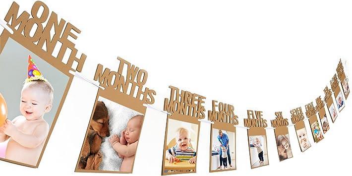 Amazon.com: Bemo - Banderines de cumpleaños para bebé de 1 a ...