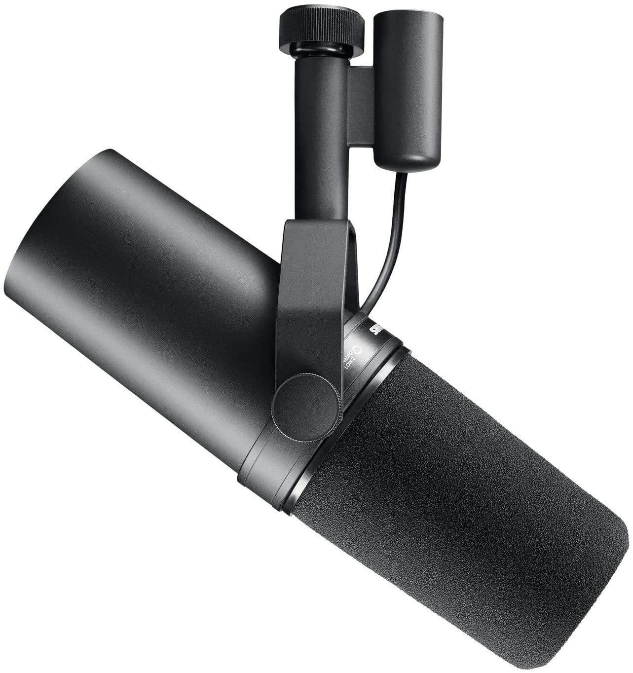 Shure SM7B Vocal Dynamic Microphone for Broadcast, Podcast & Recording, XLR Studio Mic for Music & Speech, Wide-Range Frequency, Warm & Smooth Sound, Rugged Construction, Detachable Windscreen - Black