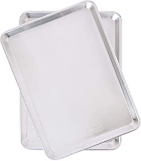 product image for Nordic Ware Natural Aluminum Commercial Baker's Half Sheet (2 Pack), Silver