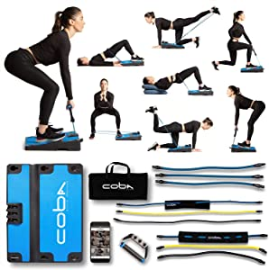 COBA GLUTE Trainer - Full Home Workout System, Core & Booty Exercise Machine, Resistance Band Full Body Trainer