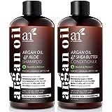 ArtNaturals Organic Moroccan Argan Oil Shampoo and Conditioner Set - (2 x 16 Fl Oz / 473ml) - Sulfate Free - Volumizing & Moi