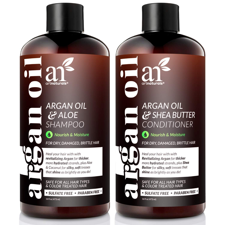 art naturals sulfate free organic argan oil hair loss shampoo