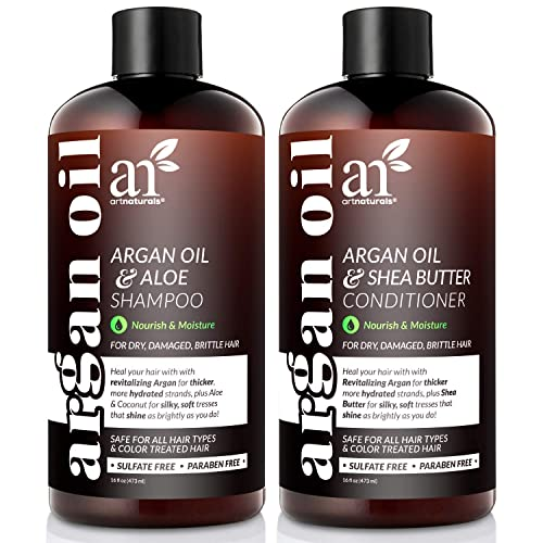 ArtNaturals Organic Moroccan Argan Oil Shampoo and Conditioner Set, Sulfate Free  - 71PH8ZxjwlL - The Best Sulfate-Free Shampoo For YourHair IN 2020