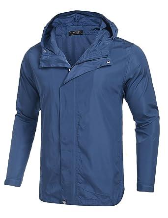 Lamore Chaqueta Hombre Deporte Ligera Jacket de Outdoor con Capucha y Cremallera: Amazon.es: Ropa y accesorios