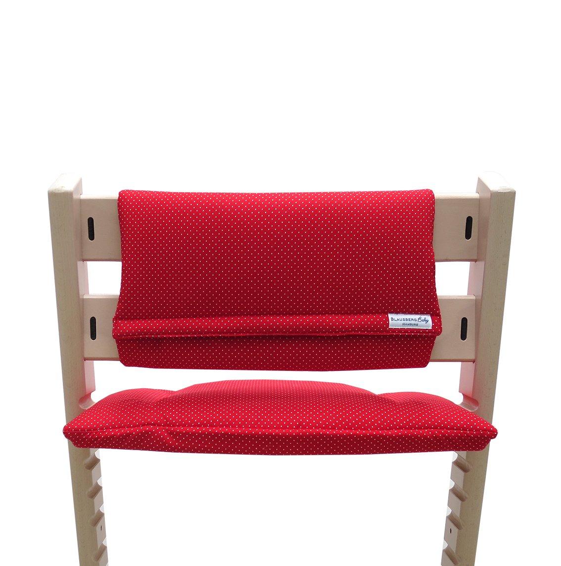 sans fente au coussin dassise - r/éducteur de si/ège rouge petits pois coussins set Junior pour chaise haute Stokke Tripp Trapp Blausberg Baby