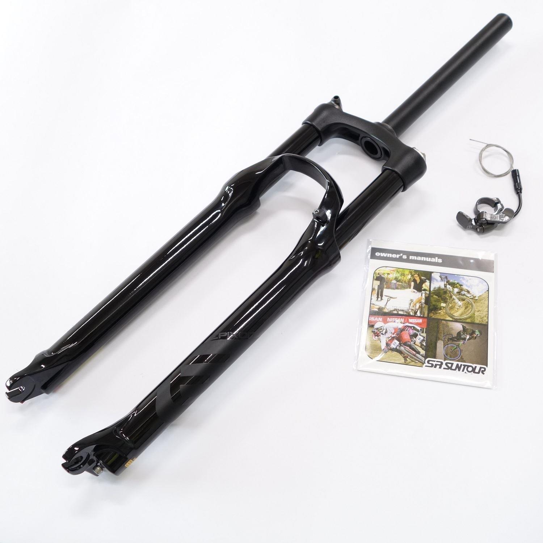 SR Suntour Epixon XC MTB Fork 29'' Straight Headtube 1-1/8'' Trave:100mm RL-R Right Side Air Spring Axle 9mm Glossy Black Retail Package