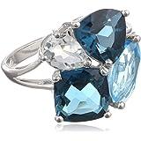 Sterling Silver Gemstone Ring, Size 7