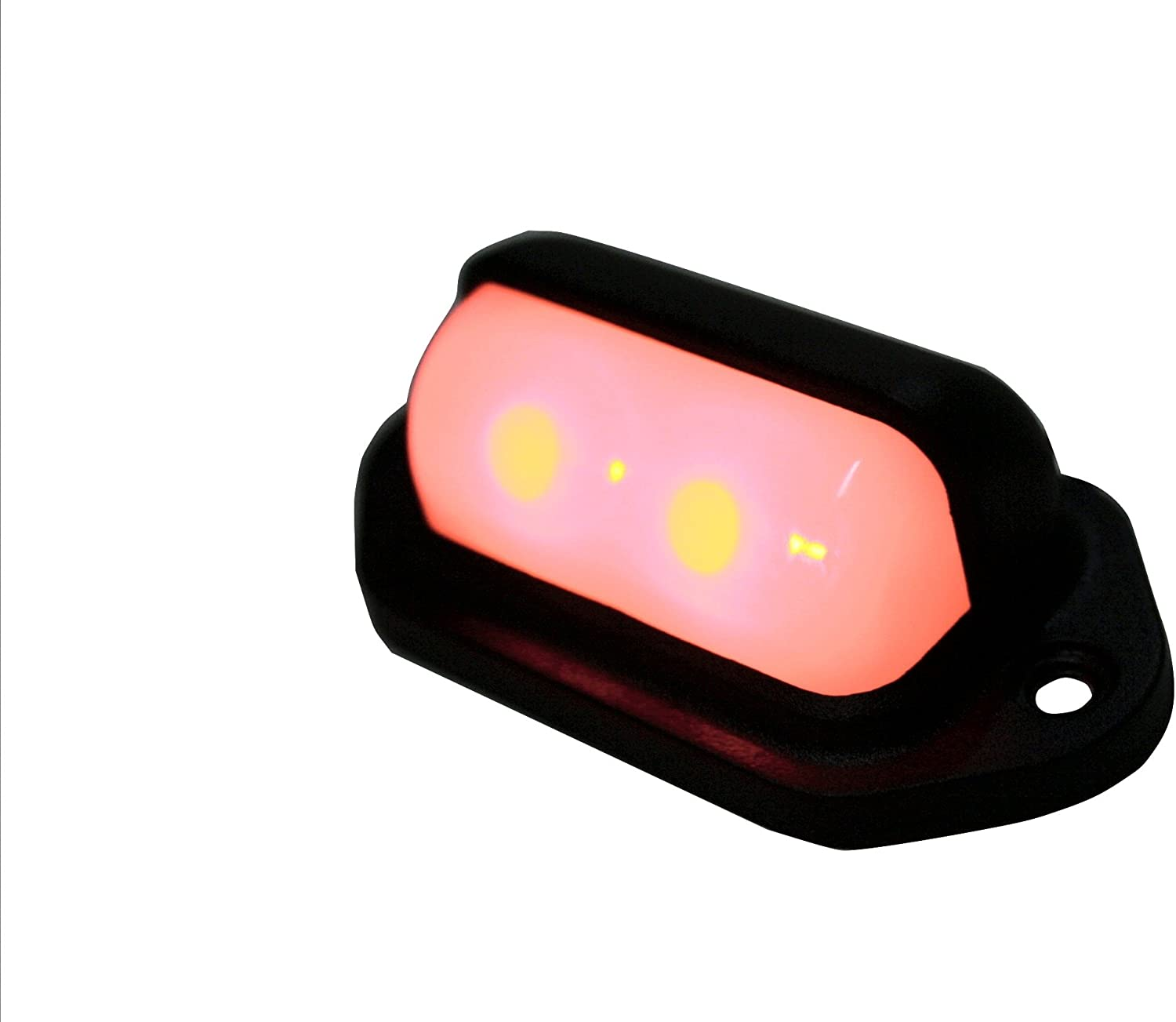 RED LED Compact 24 Volt DC Fixture Truck RV Auto LED Convenience Courtesy Light Aircraft lighting Waterproof