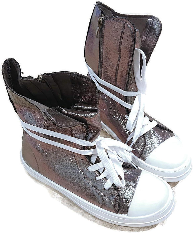 grey designer boots