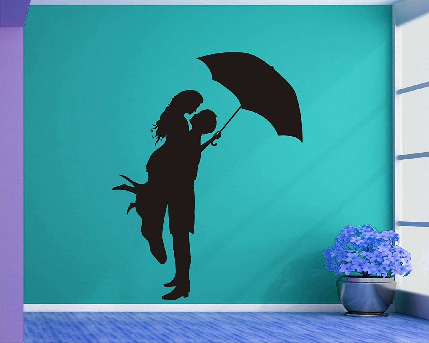 Buy Lovely Couple And Lover Black Wall Decal Wall Sticker And