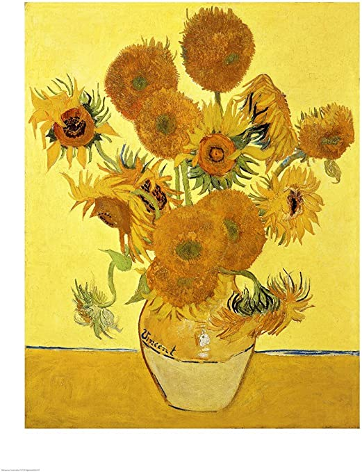 Amazon.com: Sunflowers, 1888 Yellow by Vincent