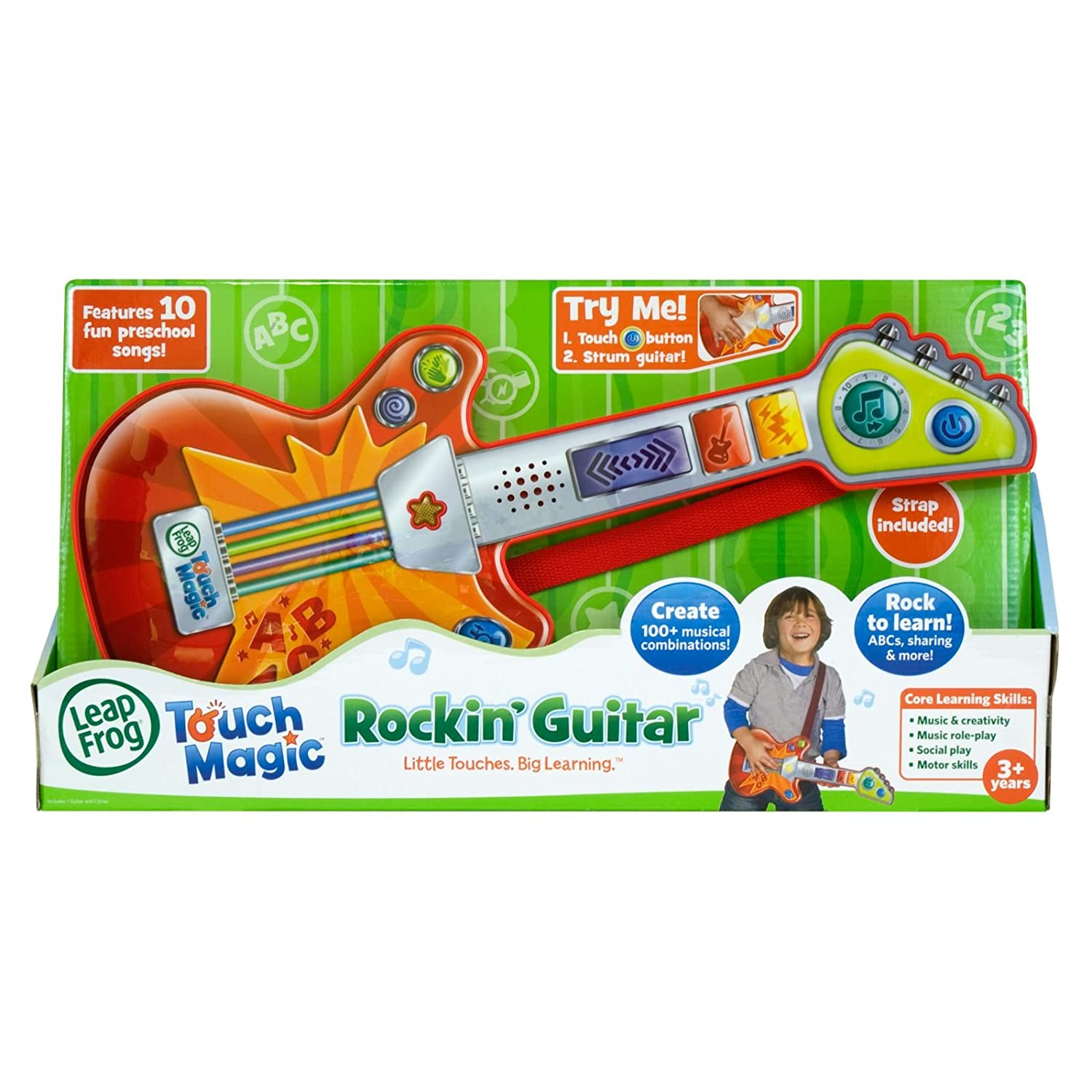 Amazon.es: LeapFrog Touch Magic Rockin Guitar - juguetes musicales (Alcalino, Naranja, Rojo, Color blanco)