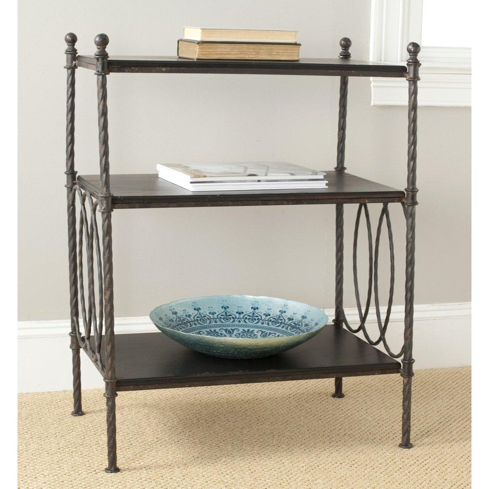 Safavieh American Home Collection Mauriac Dark Walnut 3-Shelf Bookcase