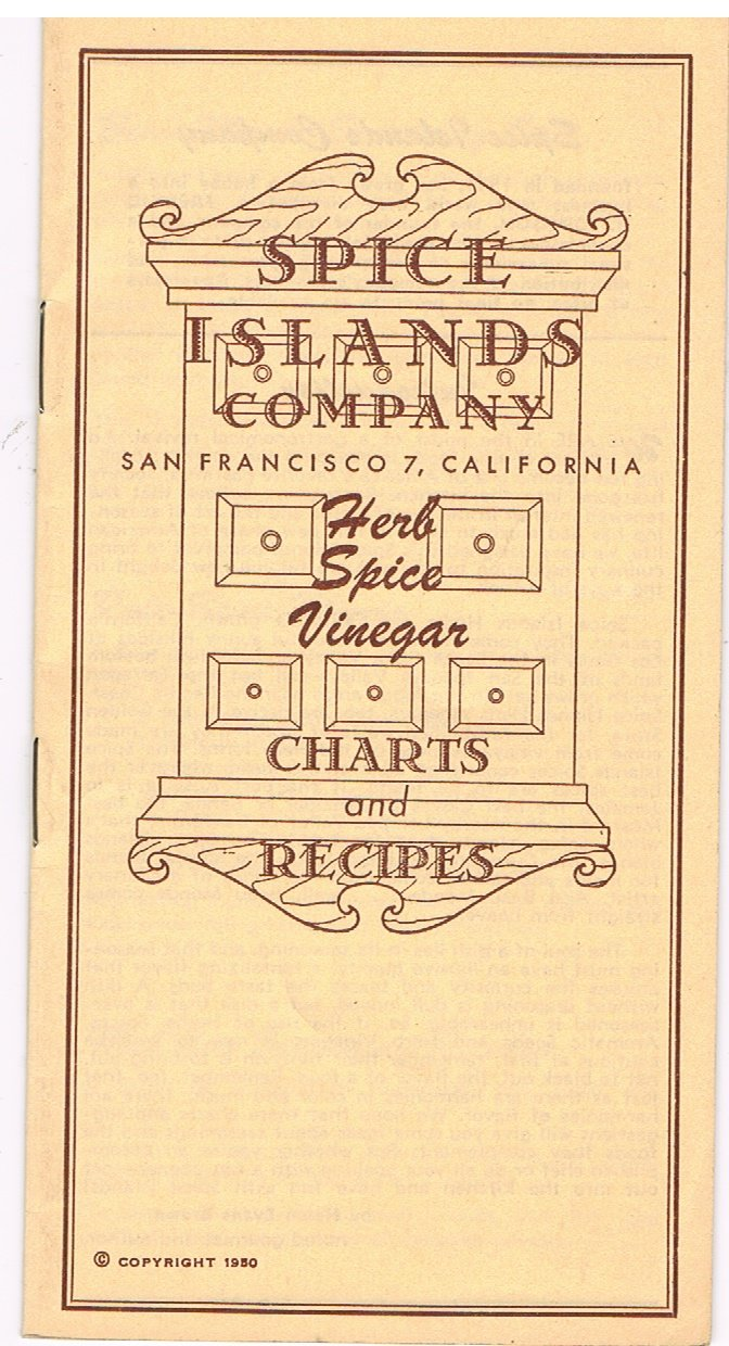 Spice Islands Company: Herb, Spice, Vinegar Charts and Recipes
