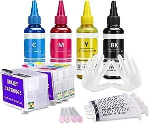 Xcinkjet Empty 252 252XL Refillable Ink Cartridge Works for Workforce WF-7110 WF-7210 WF-3620 WF-3630 WF-3640 WF-7610 WF-7620 WF-7710 WF-7720 Printer