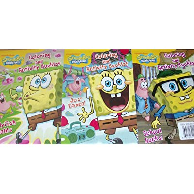 Nickelodeon Spongebob Squarepants 3 Pack Super Activity Booklets: Toys & Games