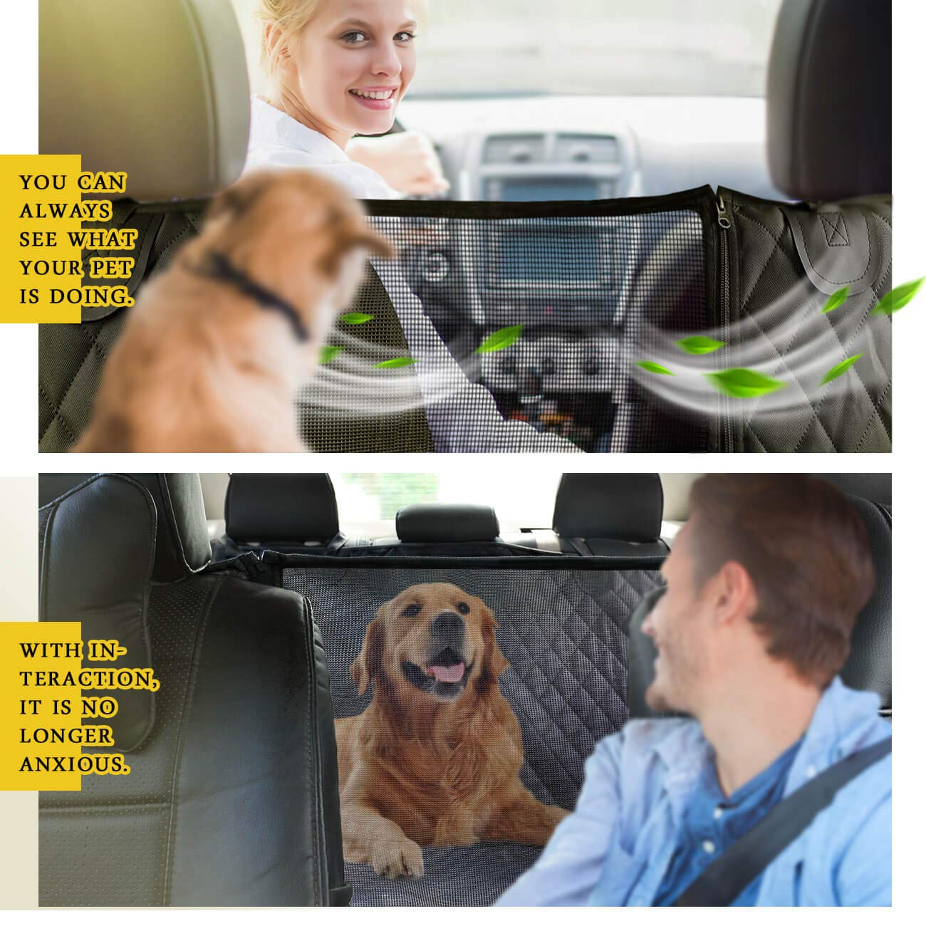 Car Seat Covers for Dogs Backseat for Trucks SUV 64 x 62 in Vailge Dog Seat Cover for Back Seat Scratch Proof Nonslip Dog Car Hammock 100/% Waterproof Dog Car Seat Covers with Mesh Window