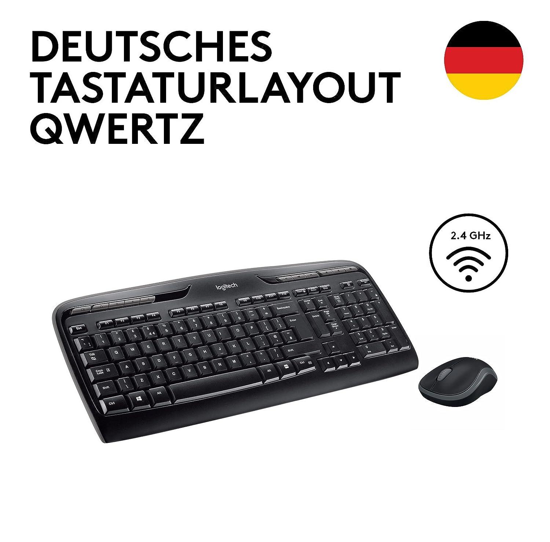 Dise/ño de teclado alem/án Logitech Wireless Combo MK330 Teclado QWERTZ