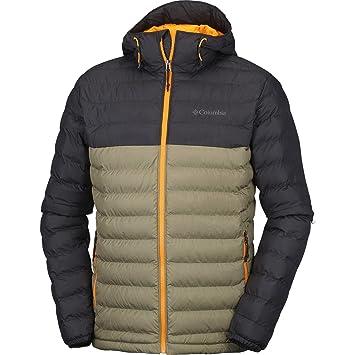 Columbia Herren Powder Lite Hooded Jacke, Sage/Black, 2X-Large