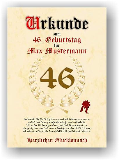 Documento de 46 cumpleaños - Tarjeta de felicitación de ...