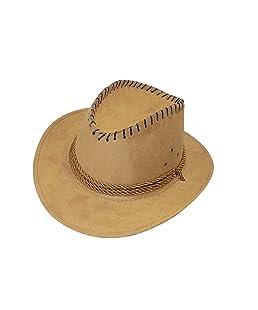 RAAYA Men's Velvet Fedora Hat (Beige)
