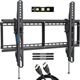 MOUNTUP TV Wall Mount, Tilting TV Mount Bracket for Most 37-70 Inch Flat Screen/Curved TVs, Low Profile Wall Mount with Max V