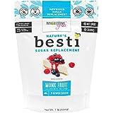 Wholesome Yum Besti 1:1 Natural Powdered Sugar Replacement - Keto Monk Fruit Sweetener With Allulose (16 oz / 1 lb) - Non GMO