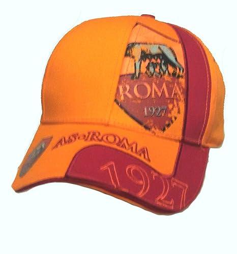 Cappello Cappellino Roma Ufficiale Uomo Adulto Castellano Berretto cap  (GIALLOROSSO 10db903d4599