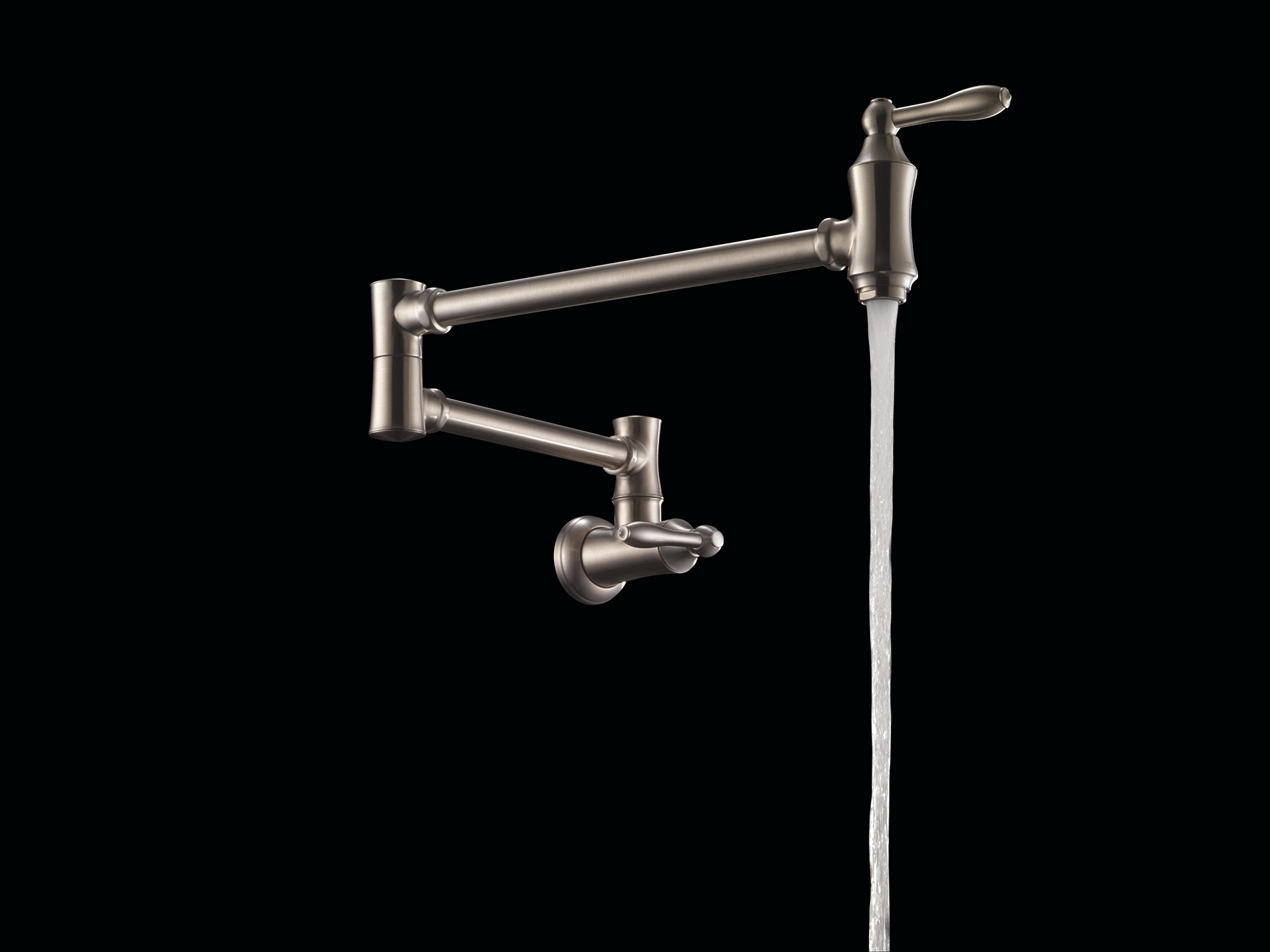 Delta Faucet Traditional Wall-Mount Pot Filler Faucet, Stainless 1177LF-SS by DELTA FAUCET (Image #4)