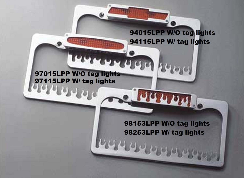 All Sales 98253LP License Frame with Third Brake Light ALS:98253LP