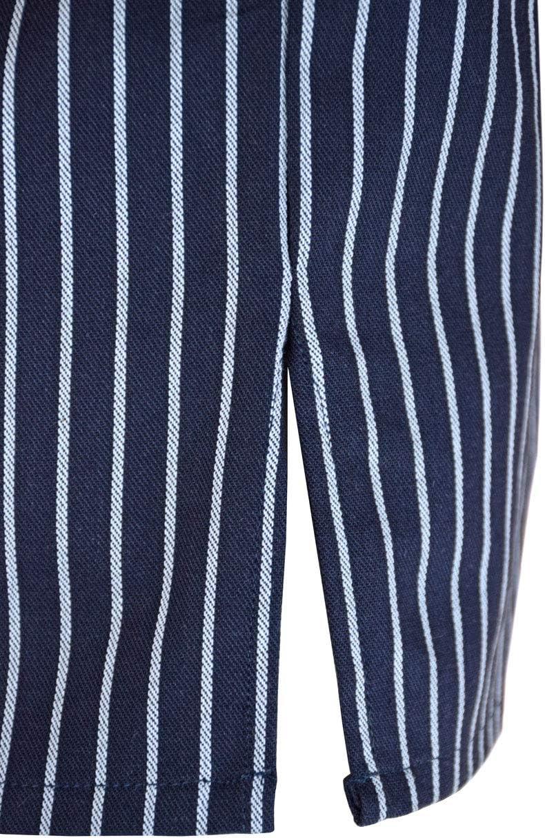 modAs Fischerhemd Skipper breiter Streifen  für Damen u Herren Größe XS XXXL