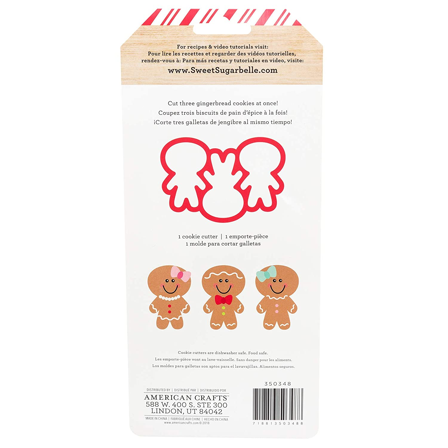Amazon.com: Sweet Sugarbelle 350348 Gingerbread Mini Cookie Cutter Mutli: Arts, Crafts & Sewing
