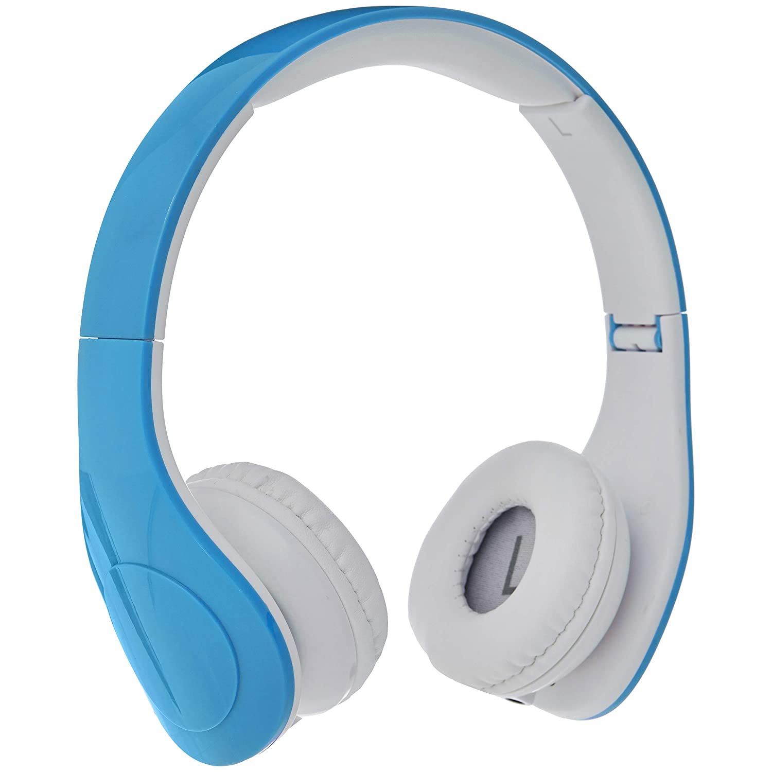 AmazonBasics Volume Limited Wired Headphones for Kids with Two Ports for Sharing – Blue
