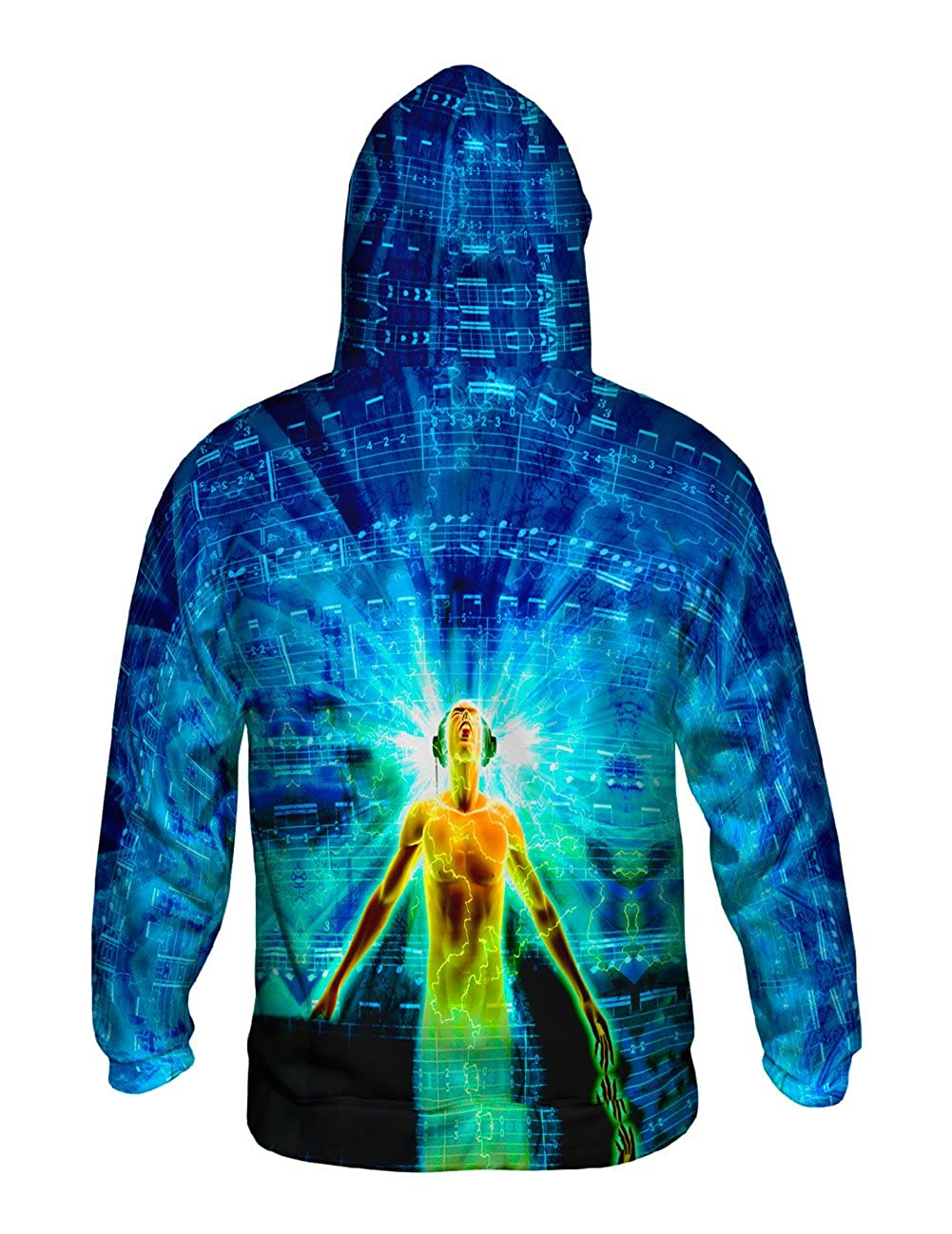EDM Lost in Music Light Yizzam Allover Print Mens Hoodie Sweater
