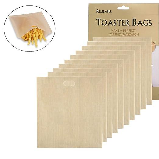 10 piezas Tostada Antiadherente Bolsas Reutilizable de ...