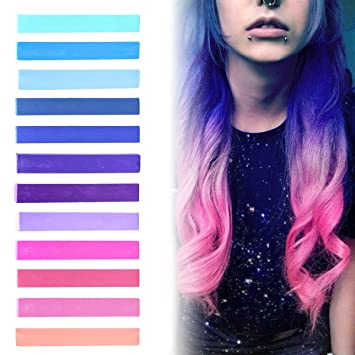 Amazon.com: Best Pink to Blue Ombre Hair Dye Set of 12 | GALAXY ...