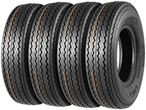 MaxAuto Trailer Tires 4.80-8 480-8 4.80x8 6PR Load Range C, Set of 4