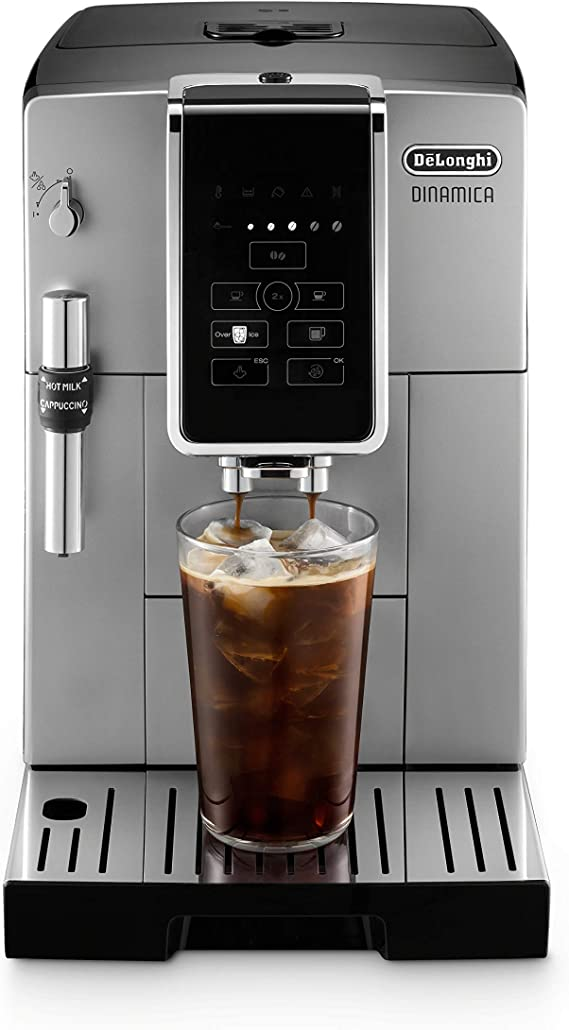 De'Longhi Dinamica Automatic Coffee & Espresso Machine TrueBrew (Iced-Coffee)