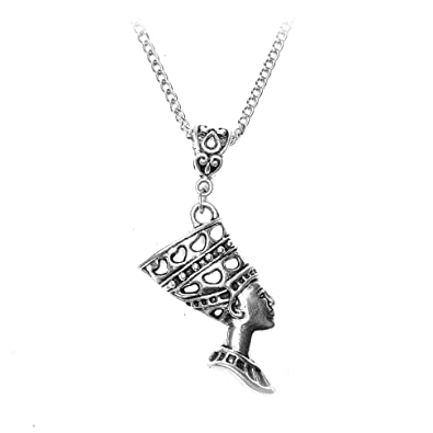 be3fefe89ee7d Joji Boutique Egyptian Collection: Antiqued Silver Nefertiti Necklace