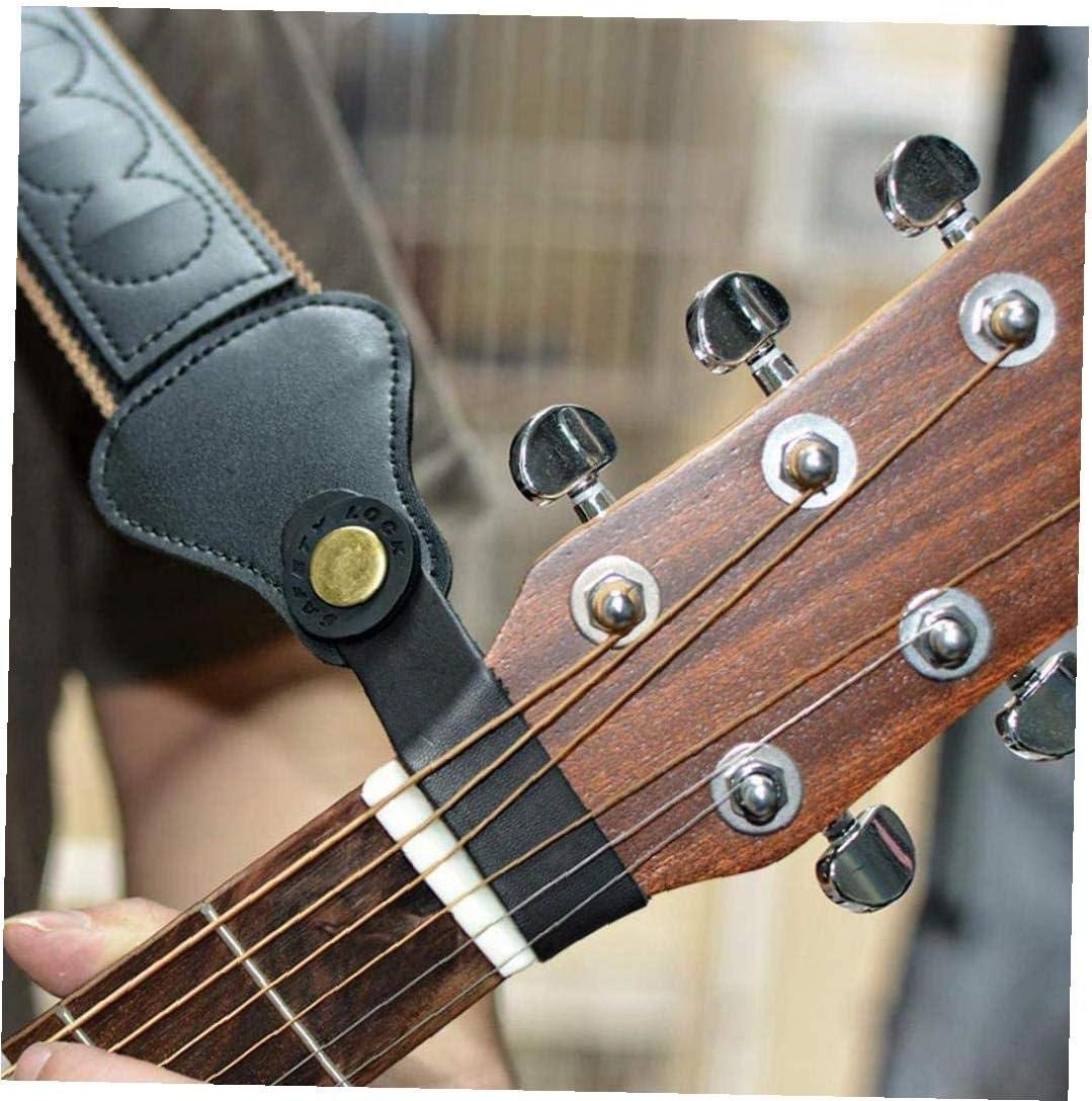Correa De La Guitarra Guitarra Bloques De Goma Antideslizantes 4pcs del Protector De Cerradura De La Correa De La Guitarra Baja De Piezas Negro Accesorios