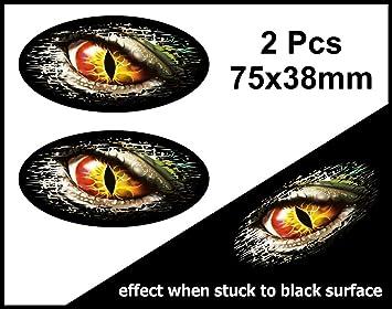 Pcs Fade To Black Worn Grunge Oval Design With Evil EYE Monster - Car sticker designripped torn metal design with evil eye monster motif external
