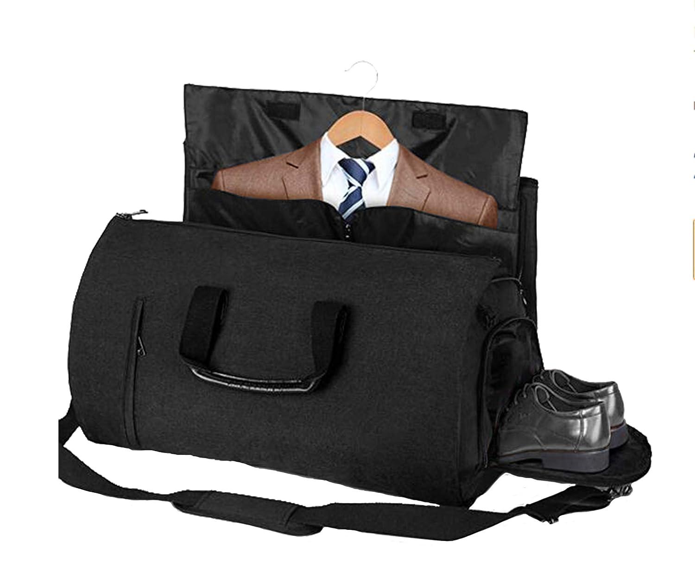 BondFree Multifunktion Tasche schlutertasche Anzugtasche Weekender für Business Reisen Urlaub Handgepäck Kleidersack Anzughülle Kleidertasche Anzüge mit Schuhfach Kleiderhülle (Stil1-Schwarz)